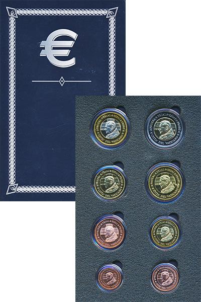 Изображение Подарочные монеты Европа Ватикан Европроба 2007 2007  UNC