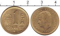 Изображение Дешевые монеты Европа Испания 1 песета 1980 Латунь XF