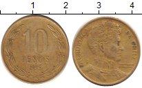 Изображение Дешевые монеты Южная Америка Чили 10 песо 1996 Латунь XF-