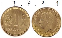Изображение Дешевые монеты Испания 1 песета 1980 Медь XF