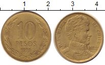 Изображение Дешевые монеты Чили 10 песо 1998 Бронза XF