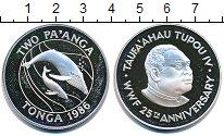 Изображение Монеты Тонга 2 паанга 1986 Серебро Proof-
