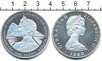 Изображение Монеты Гибралтар 1 крона 1980 Серебро Proof-