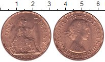 Изображение Мелочь Великобритания 1 пенни 1967 Медь UNC- Елизавета II