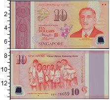 Изображение Банкноты Сингапур 10 долларов 2015  UNC