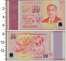 Изображение Банкноты Азия Сингапур 10 долларов 2015  UNC