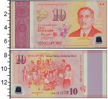Изображение Банкноты Азия Сингапур 10 долларов 2015  XF