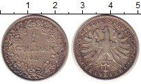 Изображение Монеты Германия Франкфурт 1/2 гульдена 1847 Серебро XF