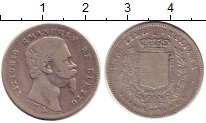 Изображение Монеты Тоскана 1 лира 1860 Серебро VF