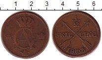 Изображение Монеты Европа Швеция 1/2 скиллинга 1803 Медь XF