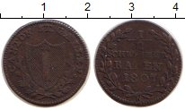 Изображение Монеты Швейцария Сен-Галлен 1/2 батзена 1807 Серебро VF