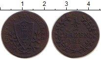 Изображение Монеты Швейцария Сен-Галлен 1/2 батзена 1816 Серебро VF