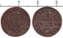 Изображение Монеты Швейцария Сен-Галлен 1/4 батзена 1807 Серебро VF