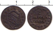 Изображение Монеты Германия Берн 1 рапп 1829 Серебро VF