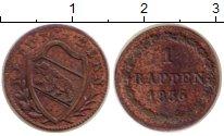 Изображение Монеты Берн 1 рапп 1836 Медь XF-