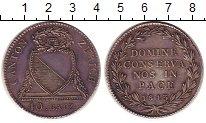 Изображение Монеты Цюрих 40 батзен 1813 Серебро XF Бог,  сохрани  нас