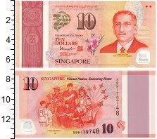 Изображение Банкноты Сингапур 10 долларов 2015 Пластик UNC
