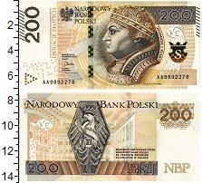 Изображение Банкноты Польша 200 злотых 2015  UNC