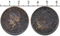 Изображение Монеты Южная Америка Аргентина 2 сентаво 1890 Бронза VF