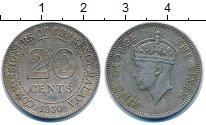 Изображение Монеты Великобритания Малайя 20 центов 1950 Медно-никель VF