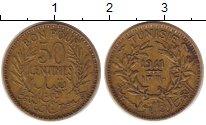 Изображение Монеты Тунис 50 сантим 1941 Медь XF