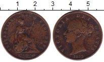 Изображение Монеты Европа Великобритания 1 фартинг 1853 Медь XF