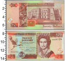 Изображение Банкноты Северная Америка Белиз 20 долларов 2012  XF