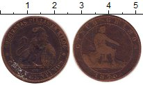 Изображение Монеты Испания 5 сентим 1870 Медь VF /