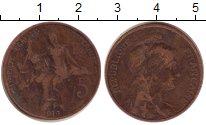 Изображение Монеты Европа Франция 5 сантим 1916 Бронза VF