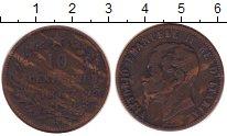 Изображение Монеты Италия 10 сентесим 1867 Бронза VF