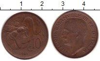 Изображение Монеты Европа Италия 10 сентесим 1921 Бронза XF