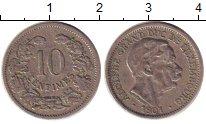 Изображение Монеты Люксембург 10 сентим 1901 Медно-никель XF Адольф - Великий  ге