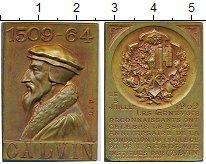 Изображение Монеты Франция Медаль 1909 Бронза UNC- Жан Кальвин (оригина