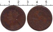 Изображение Монеты Гонконг 1 цент 1865 Бронза XF Королева  Виктория.