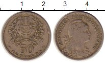 Изображение Монеты Европа Португалия 50 сентаво 1955 Медно-никель VF