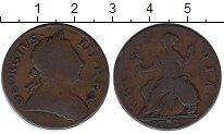Изображение Монеты Великобритания 1/2 пенни 1772 Медь VF-
