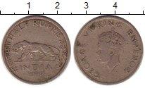 Изображение Монеты Азия Индия 1/2 рупии 1947 Медно-никель VF