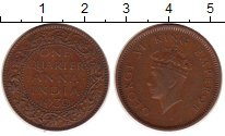 Изображение Монеты Индия 1/4 анны 1939 Медь XF