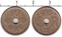 Изображение Монеты Европа Дания 10 эре 1924 Медно-никель XF