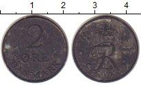 Изображение Монеты Дания 2 эре 1957 Цинк VF