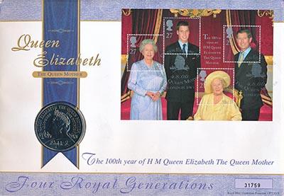 Изображение Подарочные монеты Великобритания 5 фунтов 2000 Медно-никель UNC