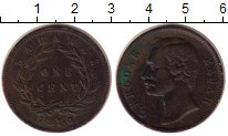 Изображение Монеты Саравак 1 цент 1870 Медь XF Раджа  К. Брук.