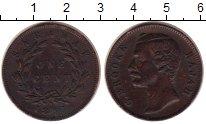 Изображение Монеты Саравак 1 цент 1891 Медь XF Раджа  К. Брук.