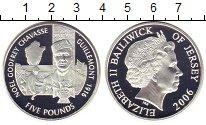 Изображение Монеты Остров Джерси 5 фунтов 2006 Серебро Proof Елизавета II.  Ноэль
