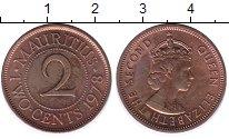 Изображение Мелочь Африка Маврикий 2 цента 1969 Бронза UNC-