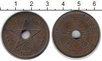 Изображение Монеты Бельгийское Конго 5 сантим 1888 Бронза XF