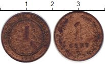 Изображение Монеты Европа Нидерланды 1 цент 1881 Бронза VF
