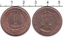 Изображение Монеты Великобритания Карибы 1 цент 1965 Бронза UNC-
