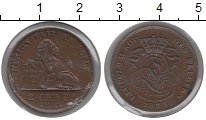 Изображение Монеты Европа Бельгия 2 сантима 1875 Бронза XF
