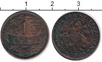 Изображение Монеты Европа Нидерланды 1 цент 1928 Бронза VF